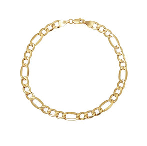 Men's Gold Figaro Bracelet
