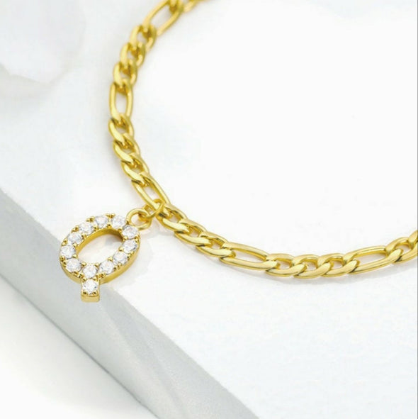 Diamond Letter Name Anklet (Gold or Silver)