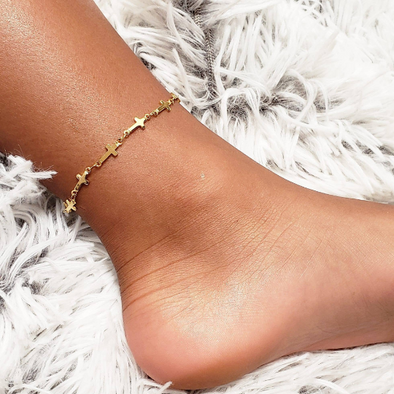 Cross Chain Anklet