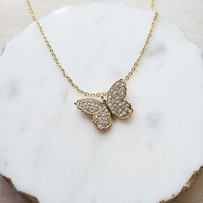 Crystal Butterfly Necklace