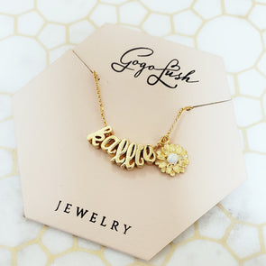 Flower Name Necklace