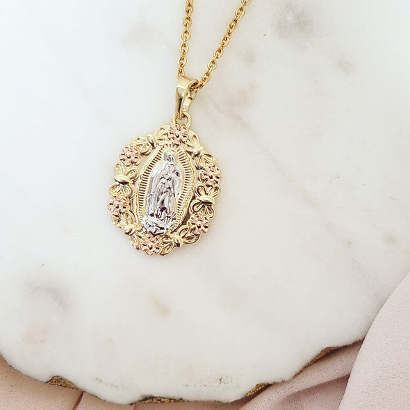 Floral Mary Necklace
