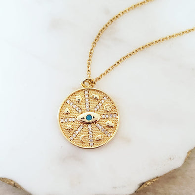 Sparkling Eye Necklace