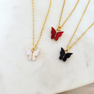 Gold Elegant Butterfly Necklace II