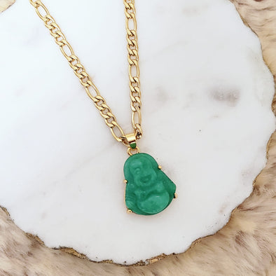 Mini Jade Buddha Necklace
