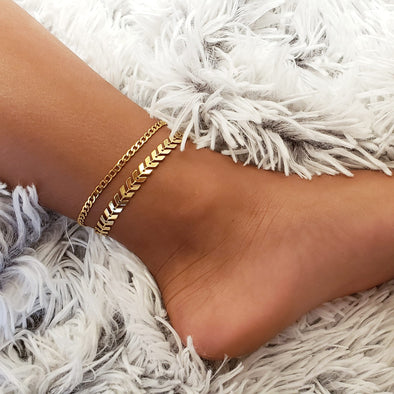 Chevron Anklet Set
