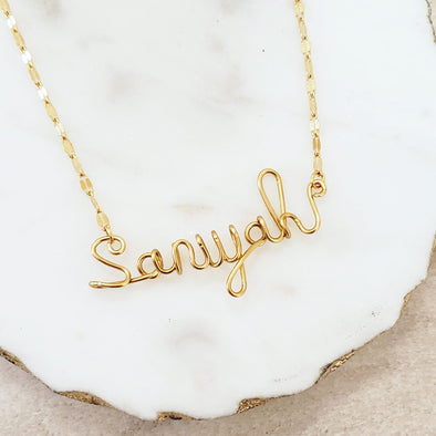 Handmade Script Name Necklace