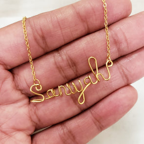 Handmade Script Name Necklace II