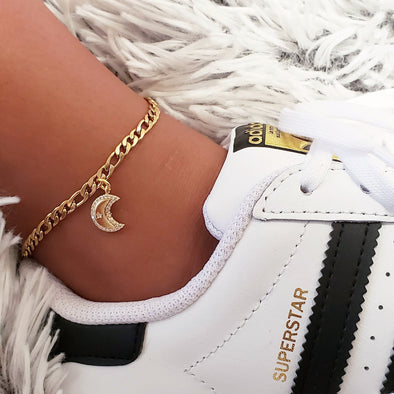 Gold Moon Anklet