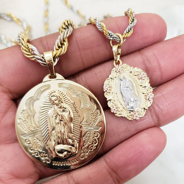 Holy Mary Necklace Set