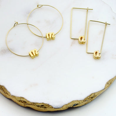 Letter Earrings