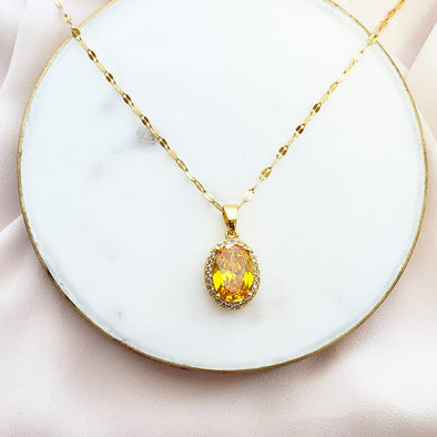 Topaz November Birthstone Necklace