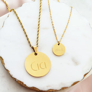Couple's Custom Coin Necklace Set