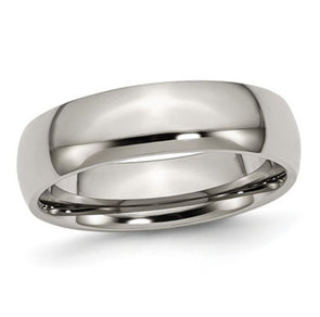Men's Plain Band Ring Silver