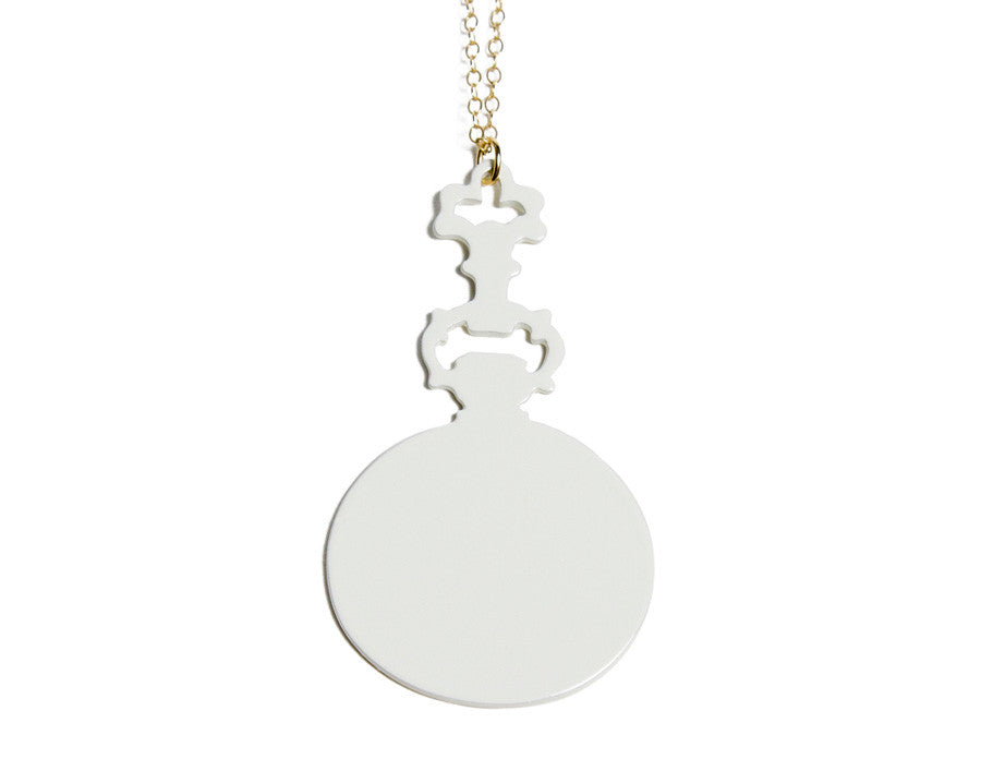 Pocket Watch Necklace cream