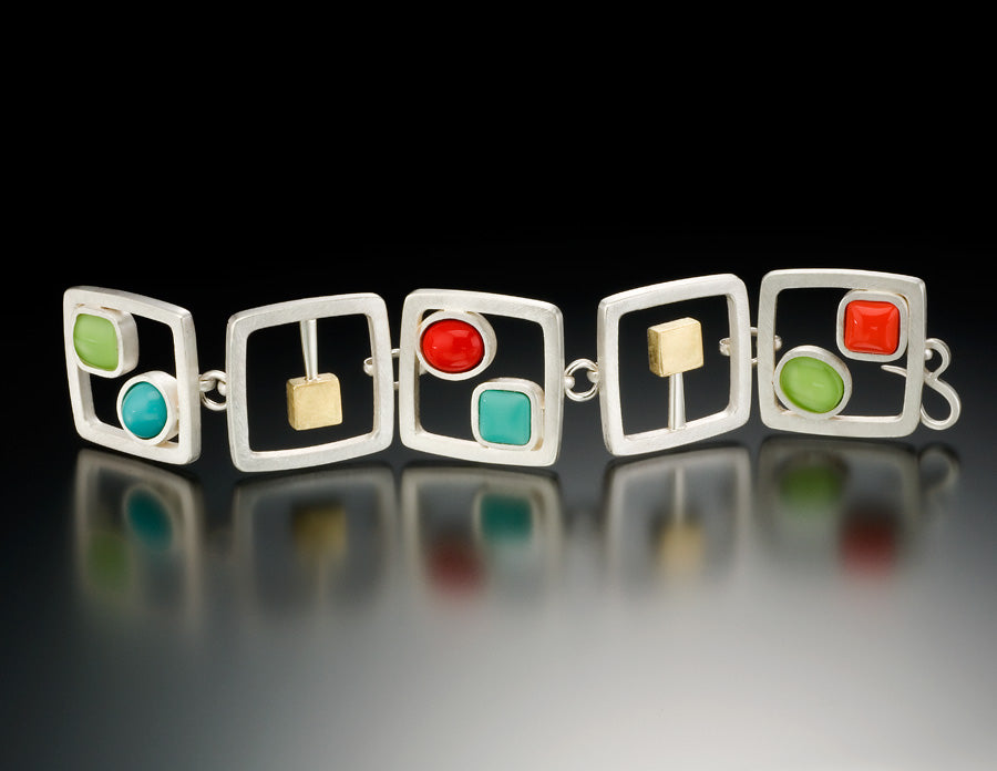 Cabs and Cubes Bracelet