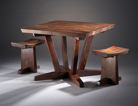 Three Square Table and Stools