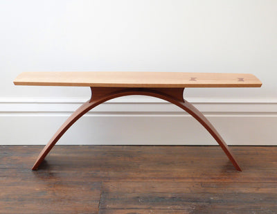 Bogen table birds eye maple top and sapele base