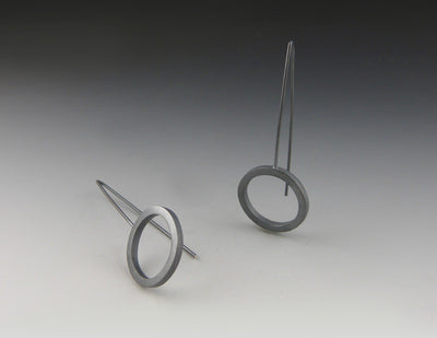 Square Stock Circle Earrings