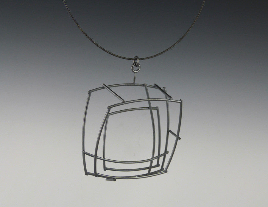 Large Structural Square Necklace