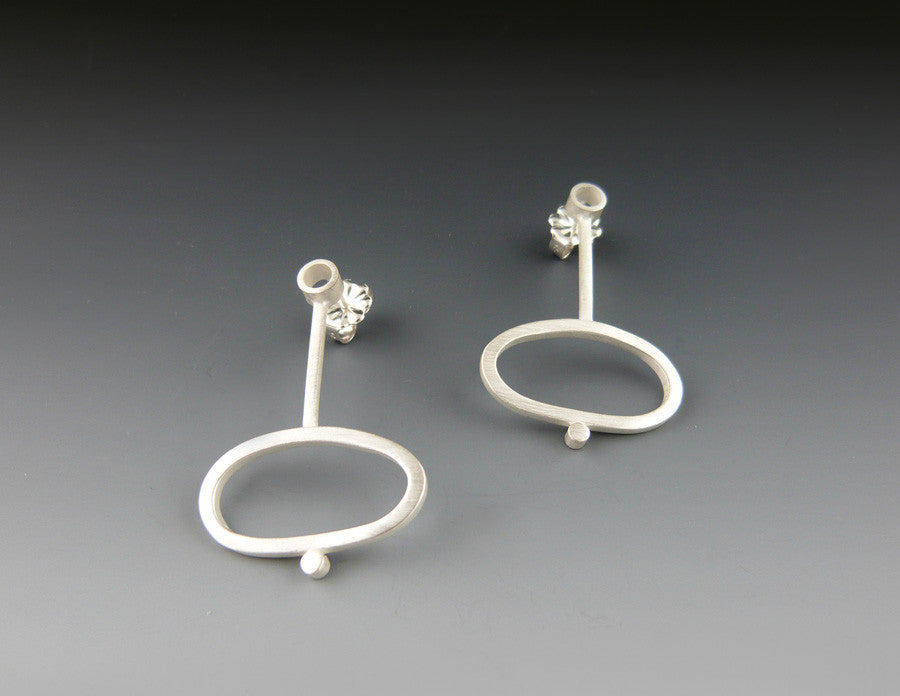 Square Stock Heavy Oval Earrings