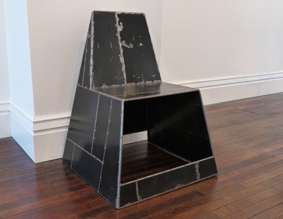 Shoebox Chair, black, in gallery