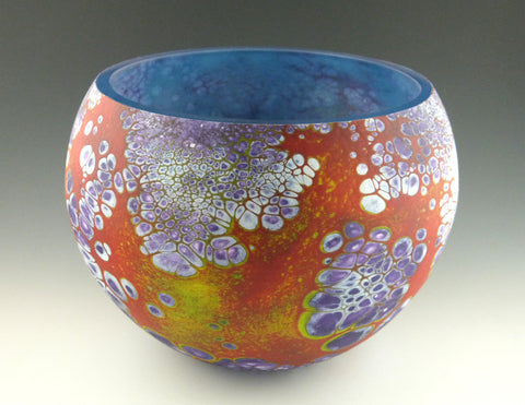 Large elemental bowl, in blue