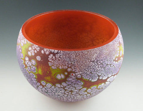 Large Elemental bowl, red, inside view