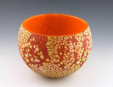 Small Elemental Bowl, opal orange yellow
