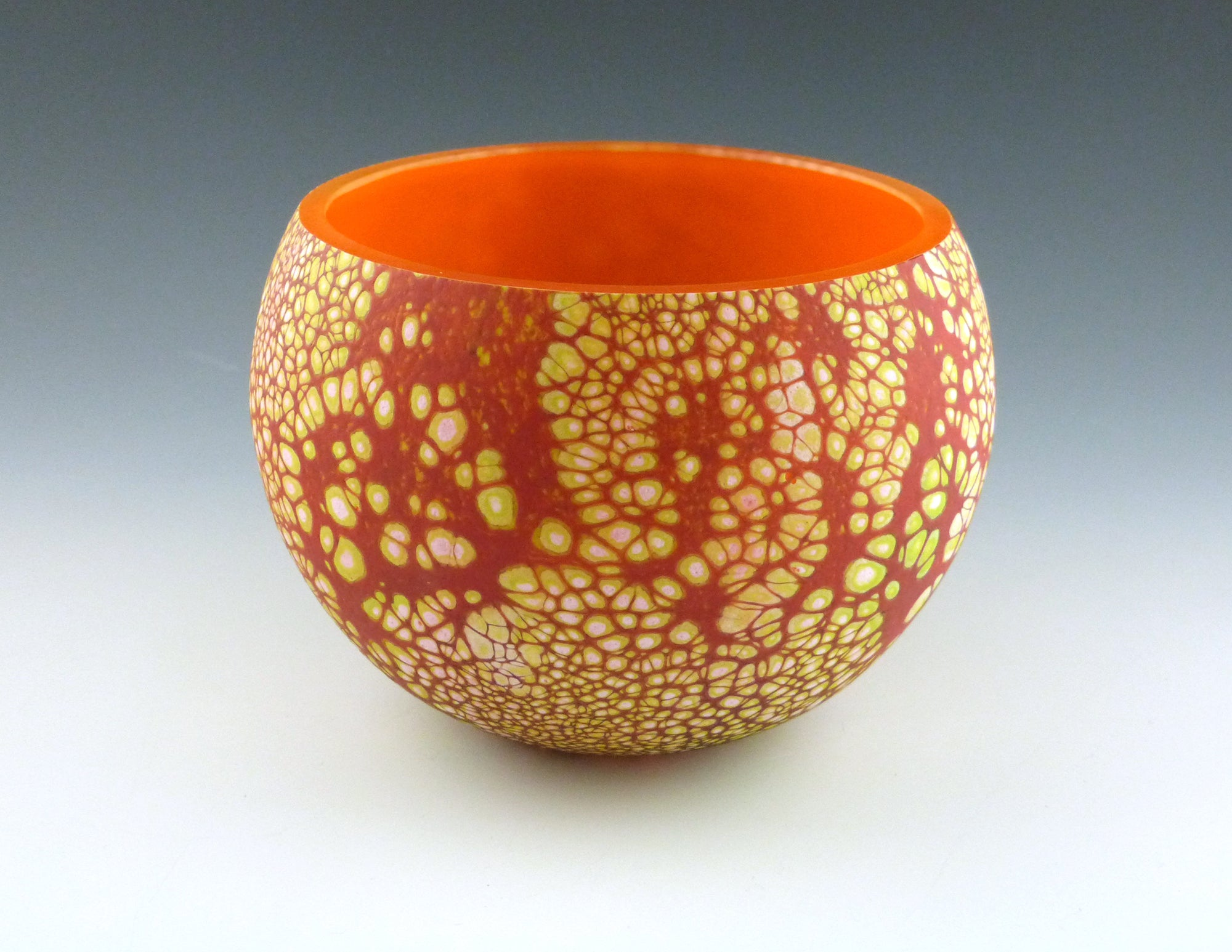 Elemental Bowl, opal/orange/yellow
