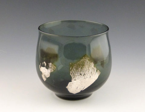 Silver Leaf Votive, gray