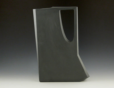 Akimbo Pitcher, side view charcoal