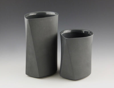 Bevel Cups, charcoal