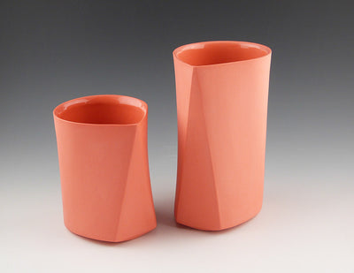 Bevel Cups, salmon