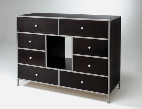Donju Eight-Drawer Dresser black