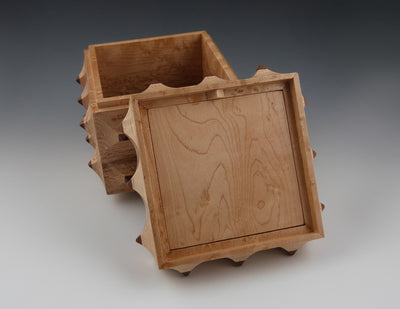 Porcupine Box, maple lid open