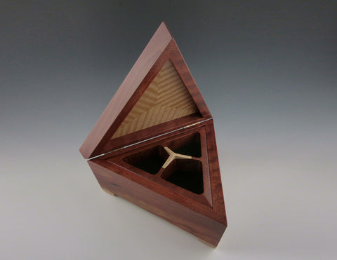 triangle box red heart open
