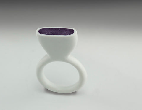 faux bone ring purple