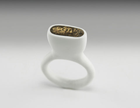 faux bone fill ring gold
