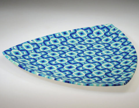 Blue Triangle Platter alternate table view