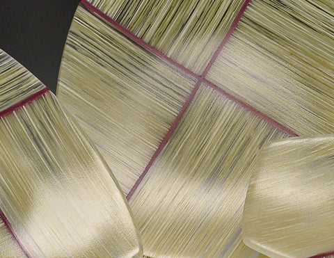 Ivory Warp and Weft dishes detail