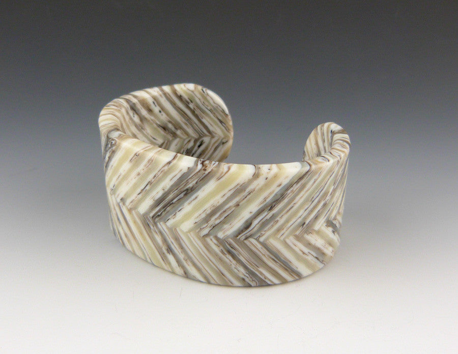 Herringbone Glass Cuff