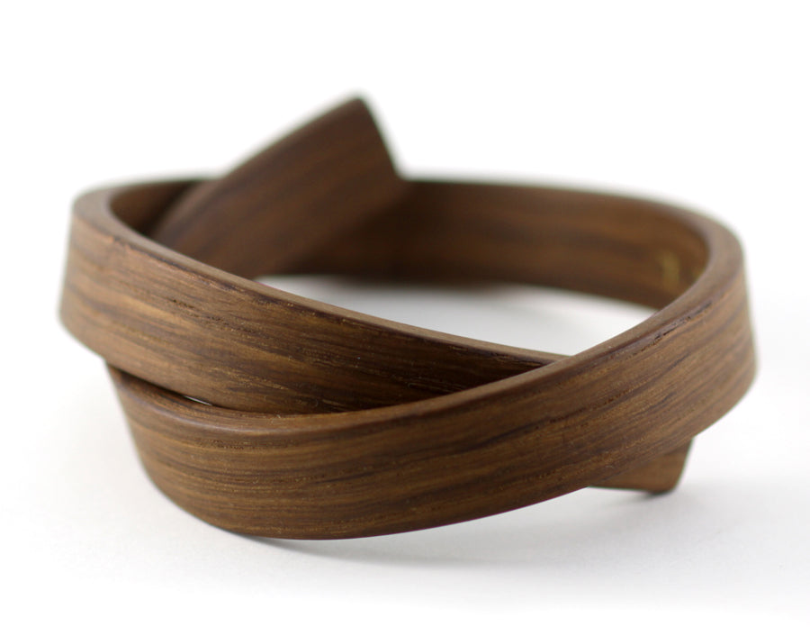 The Knot Bracelet, fumed oak