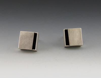 Clip-on Box Earrings