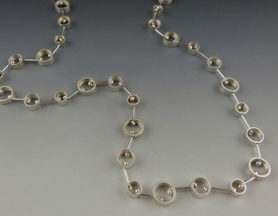 Modern Round Necklace close-up view