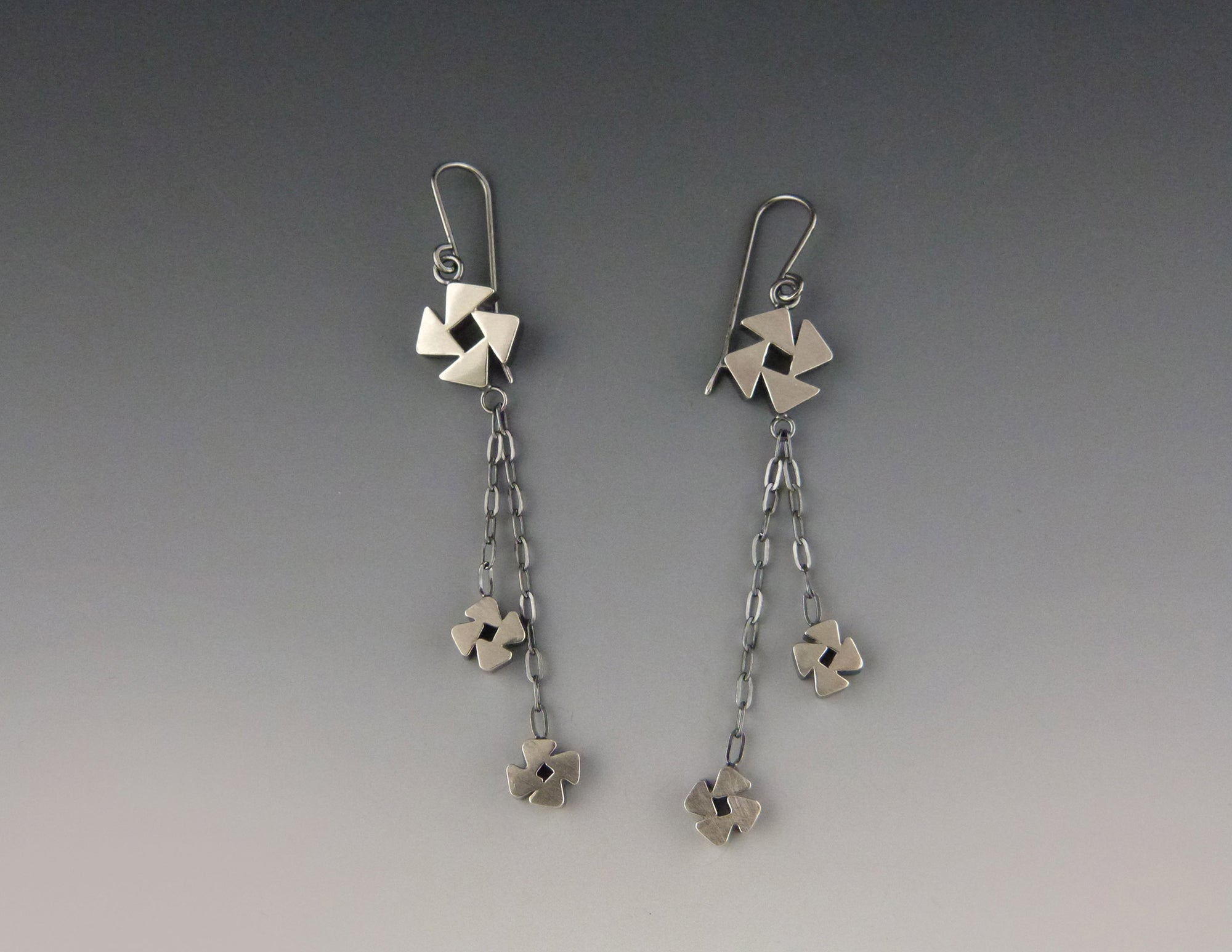 Pinwheel Drop Earrings