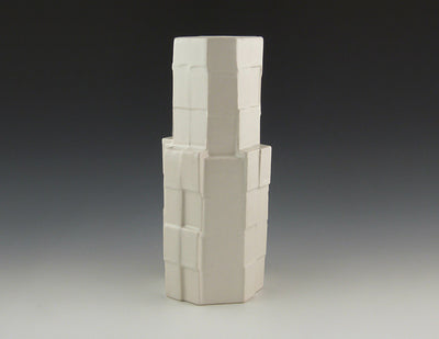 Cubistware Tower Vase, white
