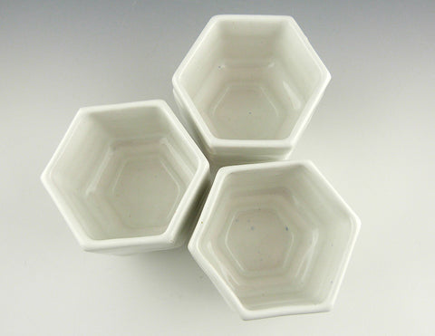 Honeycomb Cups, group in white
