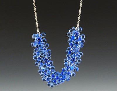 Ocean Double Strand Necklace, Sky Blue