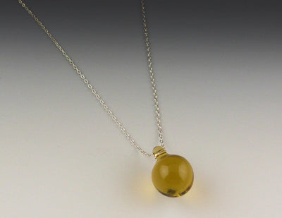 Simple Globe Necklace, Champaign